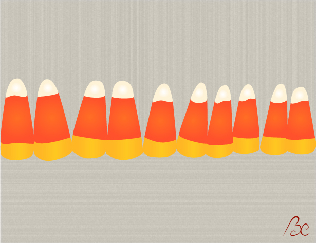 Candy Corn Vector Illustration