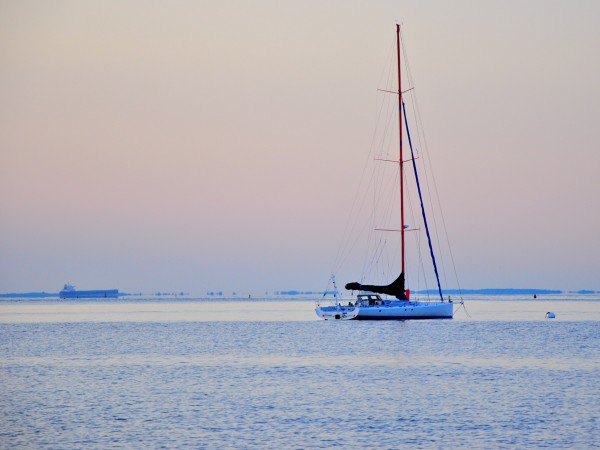 Sailboat at Dawn