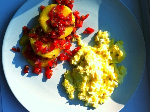 Fried Polenta and Eggs