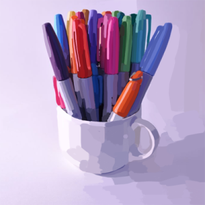 Cup Full of Sharpies