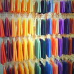 A Wall of Hand Dipped Candles at Booths Corner